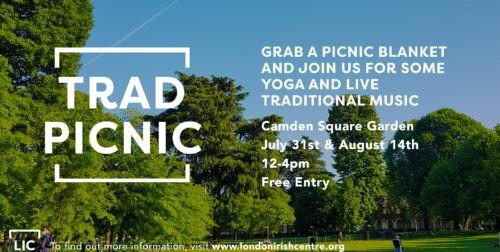 London Irish Centre's Trad Picnics in Camden Square